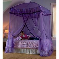 hearthsong sparkling lights bed canopy reviews wayfair