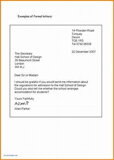 Business English Letter Sample New Letter Format O Level English Formal Business Letter