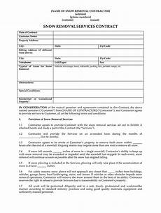 Commercial Snow Removal Contract Snow Removal Contract Template Fill Online Printable