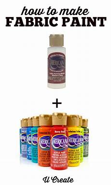 how to make your own fabric paint u create