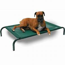 coolaroo elevated knitted fabric pet bed green kohepets