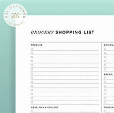 Grocery List Grocery List Day Designer