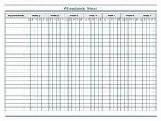 Student Attendance Template Printable Attendance Sheet Template Build A Better Binder