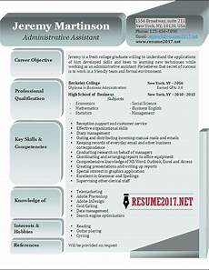 Resume Templates For Administrative Assistant Administrative Assistant Resume Examples 2017