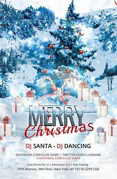 Chrismas Posters Merry Christmas Dj Poster Template In Adobe Photoshop
