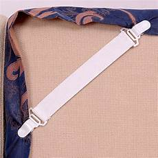 set of 4 bed sheet elastic grippers mattress straps strong