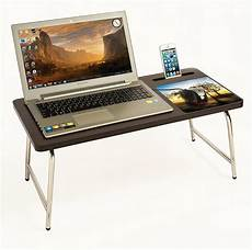 bluewud riona bed laptop table with inbuilt mobile stand