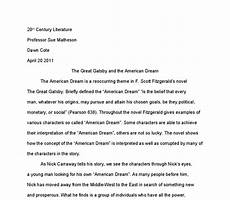American Dream Essay Great Gatsby The Great Gatsby And The American Dream University