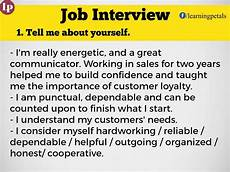 Sample Job Interview Answers Tell Me About Yourself Job Interview Job Interview