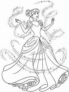 cinderella coloring pages to and print for free