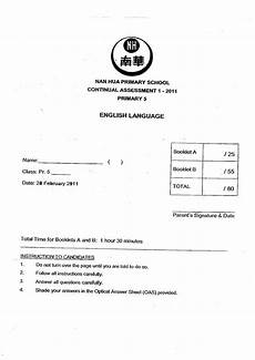 Final Paper Cover Page Free Top Primary Exam Papers Free Exam Papers