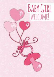 Welcome Baby Girl Baby Girl Welcome Baby Amp Family Cards Send Real