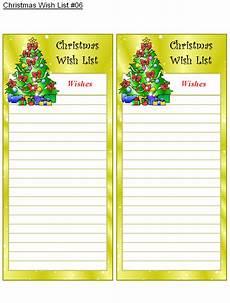 Christmas List Maker Printable Christmas Wish List 6