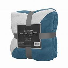 reversible sherpa throw blanket 50 quot x 60 quot color warm soft