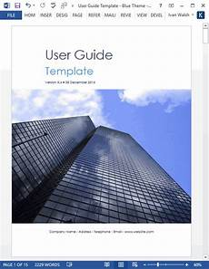 Ms Word User Manual Template User Guide Template Download Ms Word Templates And Free