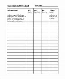 Book Out Sheet Free 9 Sample Classroom Sign Out Sheet Templates In Ms