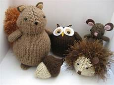 you to see woodland animals knit pattern set by