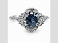 Custom Embellished Sapphire Halo Ring   Brilliant Earth