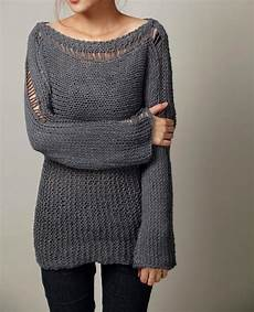knit sweaters knit sweater eco cotton oversized sweater in