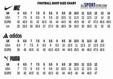 Puma Women Size Chart Football Boot Size Guide