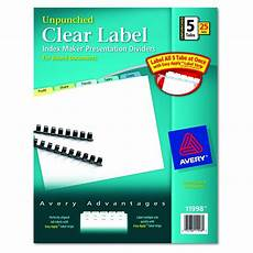 Avery Lable Maker Avery Dennison Index Maker Clear Label Divider Im 5tb