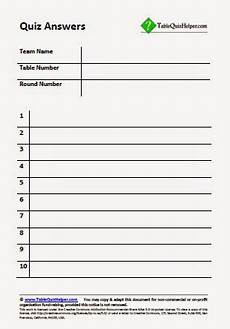 Question And Answer Sheet Template Blank Quiz Template White Gold