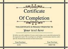 Certification Of Completion Template Printable Certificate Template 46 Adobe Illustrator