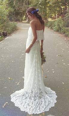 strapless bohemian wedding dress iver by daughters of