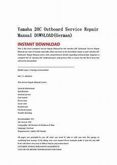 Yamaha 20c Outboard Service Repair Manual Download German