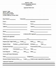 Generic Order Form Free 11 Sample Appraisal Order Forms In Ms Word Pdf