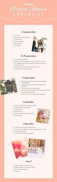 Bridal Checklist Bridal Shower Checklist Popsugar Australia Love Amp