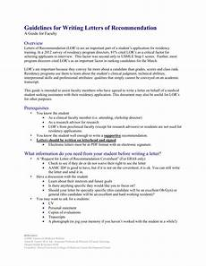 Aamc Recommendation Letter Guidelines For Writing Letters Of Recommendation
