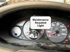 2002 Acura Tl Maintenance Light Acura Integra Maint Reqd Light Youtube