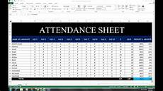 Attendance Sheet In Excel 36 Attendance Sheet On Excel With Absent Attendance