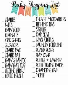 Baby Stuff Checklist Baby Essentials Checklist 187 Sunny Sweet Days