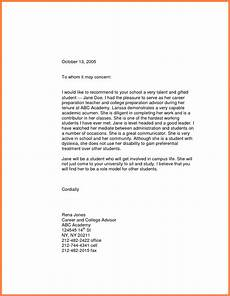 High School Letter Of Recommendation Template 10 Letter Of Recommendation For High School Student