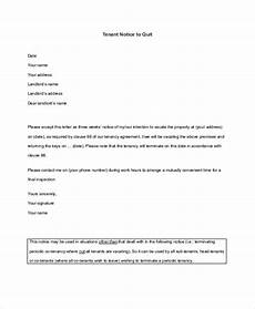 Tenant Notice To Quit Template Free 7 Notice To Quit Examples Amp Samples In Pdf Google
