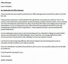 Letter Writing For Office Office Manager Cover Letter Example Icover Org Uk
