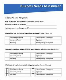Company Assessment Template Free 10 Needs Assessment Samples In Pdf Ms Word
