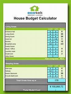 Budet Calculator Calculate Your Eco House Budget With This Tool Ecotek