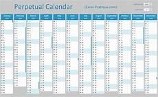 Perpetual Calendar Excel Perpetual Calendar