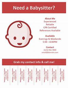 Babysitting Sign Babysitting Flyer Template With Pull Tabs By Vertex42 Com