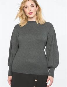 puff sleeve sweater s plus size tops eloquii