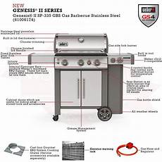 Weber Bbq Comparison Chart Weber 174 Genesis Ii Sp 335 Gbs Gas Barbecue Official