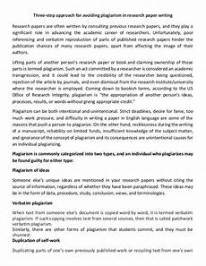 Essay About Plagiarism Three Step Approach For Avoiding Plagiarism In Research