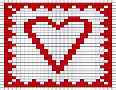 Free Charts For Knitting Free Knitting Patterns Heart Double Knit Pad
