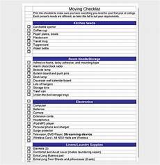 Relocation Checklist Excel Moving Checklist Template 20 Free Printable For Word