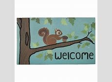"Mohawk Squirrel Fancy Doormat   Multi Colored (1'6""x2'6"")   Decor Ideas   Welcome mats, Squirrel"