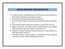 Medical Office Administration Duties Office Assistant Resume Sample Pdf
