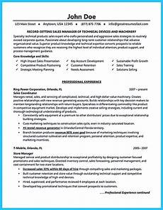 Example Of Sales Resumes Writing A Clear Auto Sales Resume
